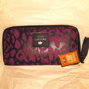NWT 2010 JUICY COUTURE Purple Navy Clutch Wallet